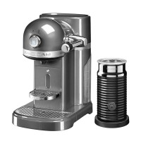 Капсульная кофемашина KitchenAid Nespresso,серебряный медальон, + Aeroccino 3 5KES0504EMS