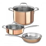 Набор 3 предмета: сковорода 25,4 см, сотейник с крышкой 3,31 л, кастрюля с крышкой 2,84 л kitchenaid, KC2P