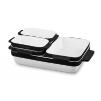 Набор керамических кастрюль, 5 шт в наборе, черный KitchenAid, KBLR05SBOB