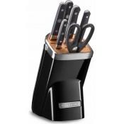 Набор ножей, 7 предметов, черный, KitchenAid, KKFMA07OB